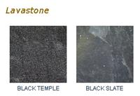 Lava Stone Black Temple Tiles