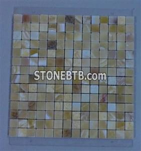 Green Yellow Onyx Strip Mosaic
