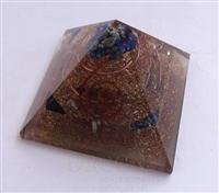 Copper Three Layer Orgone Pyramid With Crystals | Orgonite Copper Pyramid | Copper Meditation Pyramid