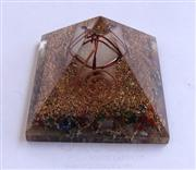 Mix Chakra Stone Orgone Pyramid With Crystal Markaba | Orgonite Mix Chakra Stone Pyramid | Wholesale Orgonite