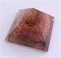 Rose Quartz Orgone Pyramid With Crystal Point | Orgonite Rose Quartz Pyramid | Wholesale-supplier-manufacturer