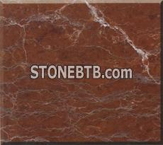 Red marble colors