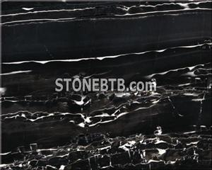 Honed silver marble