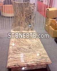 Yellow granite stone