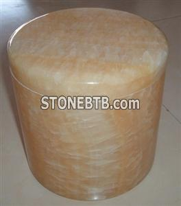Yellow marble urn