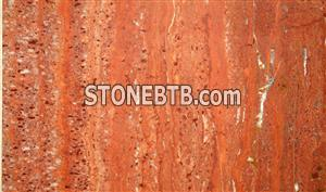 Red Iran travertine
