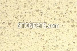 Yellow quartz stone slab
