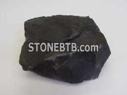 Black honed basalt
