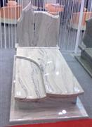 Marble white tombstone