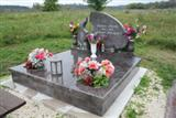 Pink headstone for graves