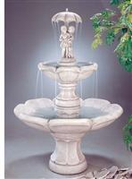 Garden carved fountain