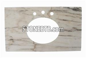 Marble white countertop