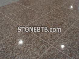 Pink marble tiling