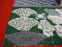 Outdoor stone pave