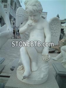 Marble white statue