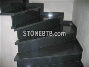 Black granite step
