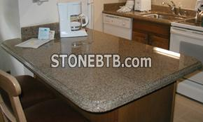 Granite beige countertop