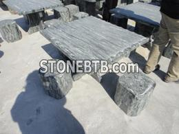 Outdoor stone furniture