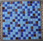Blue mosaic pieces