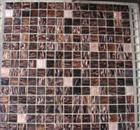 Brown mosaic paving