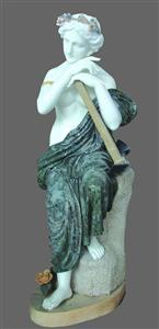 Marble green statue