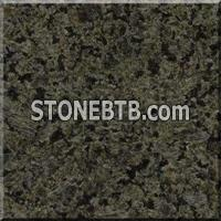 Honed green granite