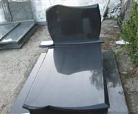Single black gravestone