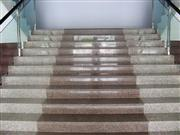 Red granite step
