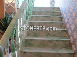 Polished granite staircase
