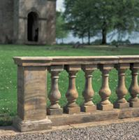 Honed stone handrail