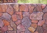 Red natural basalt