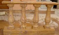 Yellow marble balustrade