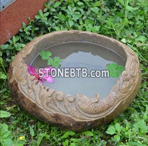 Stone Flower Pond Lotus Pond