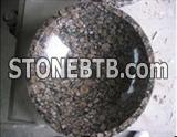 Round Black Granite Basin