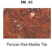 Persian Red Marble Tile