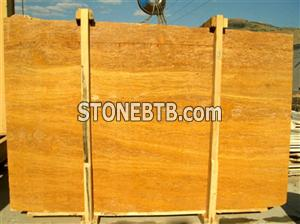 Yellow Travertine Slab ( Vein Cut )