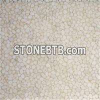 New translucent resin river stone pebble panel