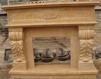 Yellow Limestone Fireplaces