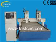 Multi-head stone cnc router