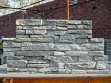Green quartzite stacked stone