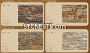 Stone panel from natural slate stone