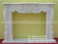 Interior White Marble Fireplace