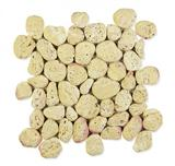 Aegean Pebbles Yellow Travertine