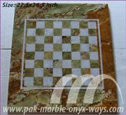 CHESS BOARD CARVED ONYX