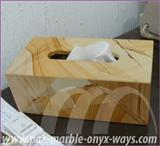 TISSUE BOX ONYX AND MARBLE