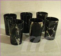 WATER GLASS ONYX AND MARBLE