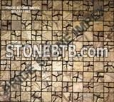 Golden Mosaic Stone TIle