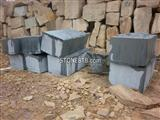 black sandstone block
