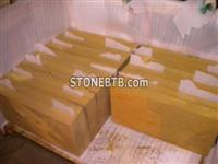 Yellow Sandstone thick tiles bush hammered