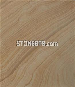 Yellow wood sandstone tile